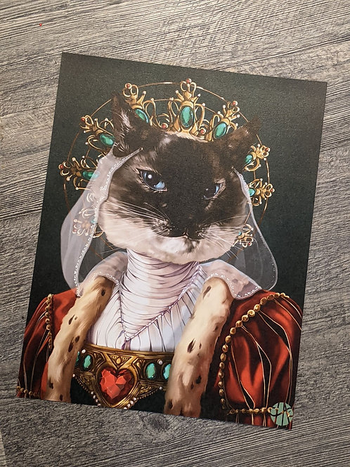 Queen Kitty Print