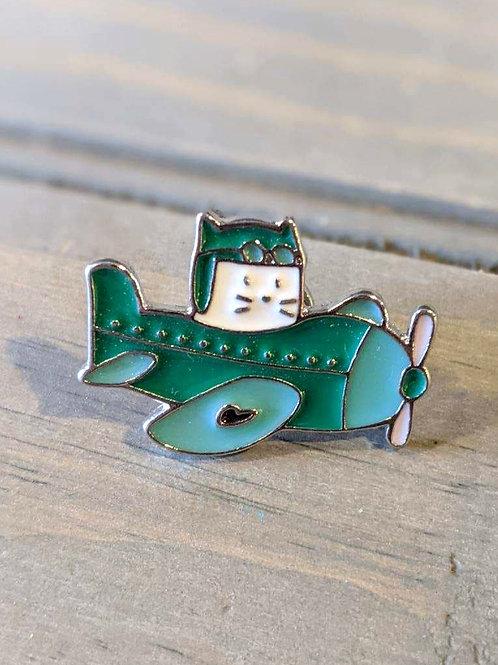 Airplane Cat: Pin