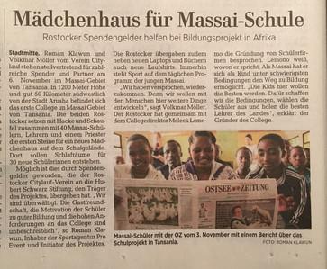 Artikel vom 17.11.2017 aus der Ostsee Zeitung