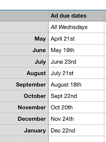 2021 ad due dates Our Towne.png