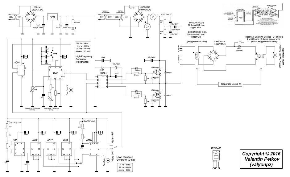 Stan Meyers 8xa Bifilar Circuit plan design
