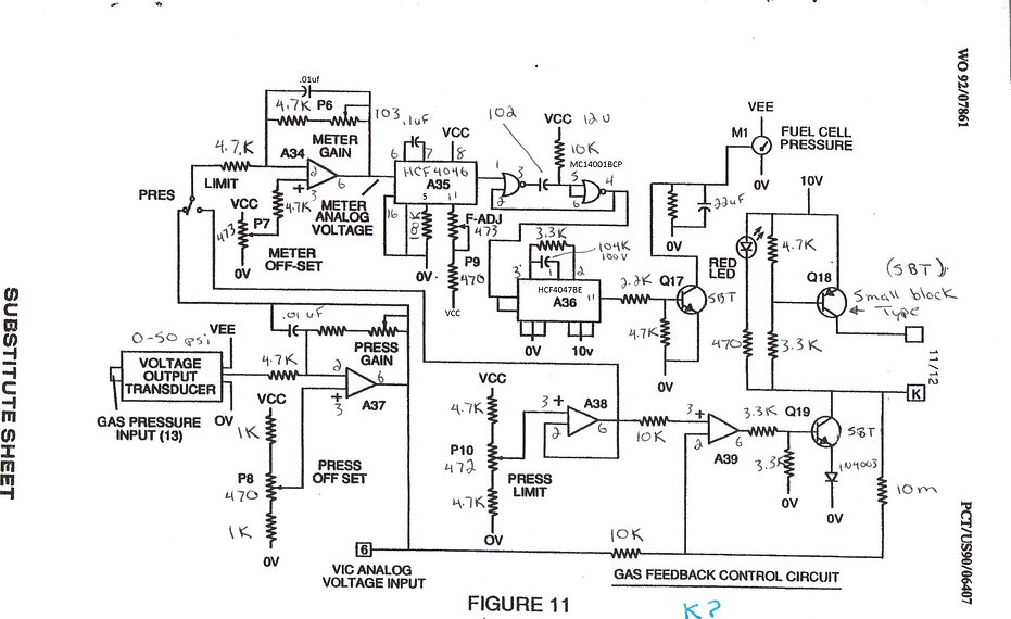 Stanley A Meyer Gas Feed Back Circuit