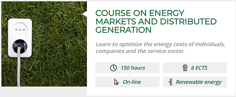 COURSE ON ENERGY MARKETS AND DISTRIBUTED