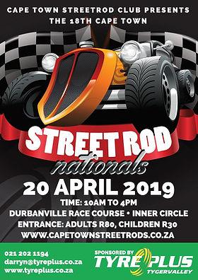Hot Rod Streetro dnationals poster Sa RS