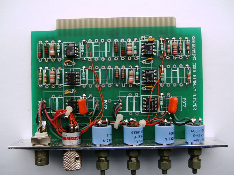 Stanley Meyer Air Gate Control Circuit GMS  Front