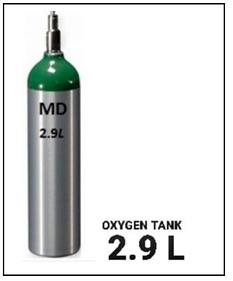Medical Oxygen 2.9 L Compressed O2.png