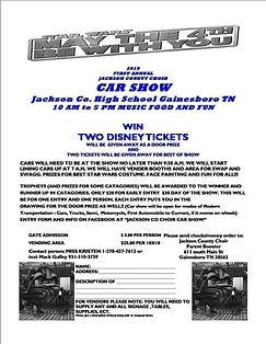 Car Show Hot Rod 4 th May  TN High Schoo