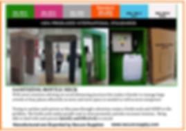 Corona Virus Pandemic Sanitizer Doors Gates and Entrances.
