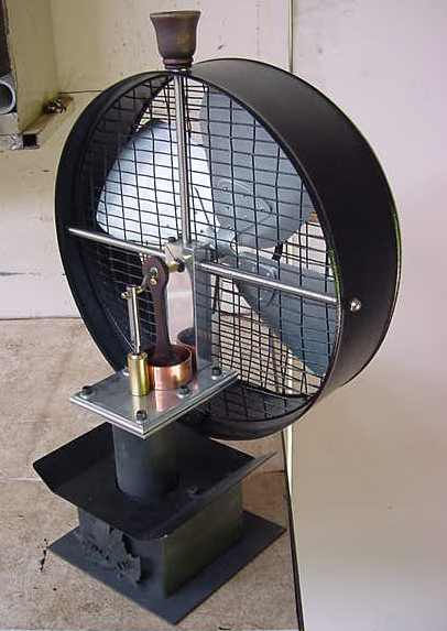 Stove Fan Heat Stirling Engine