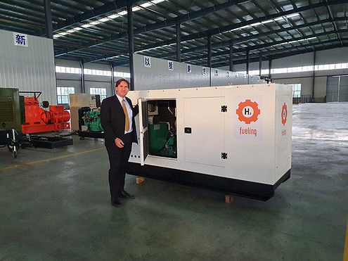 Hydrogen Gas Fueled Power Plany Genset Generator