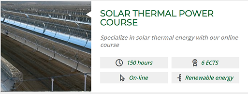 SOLAR THERMAL POWER COURSE GAS HYDROGEN.
