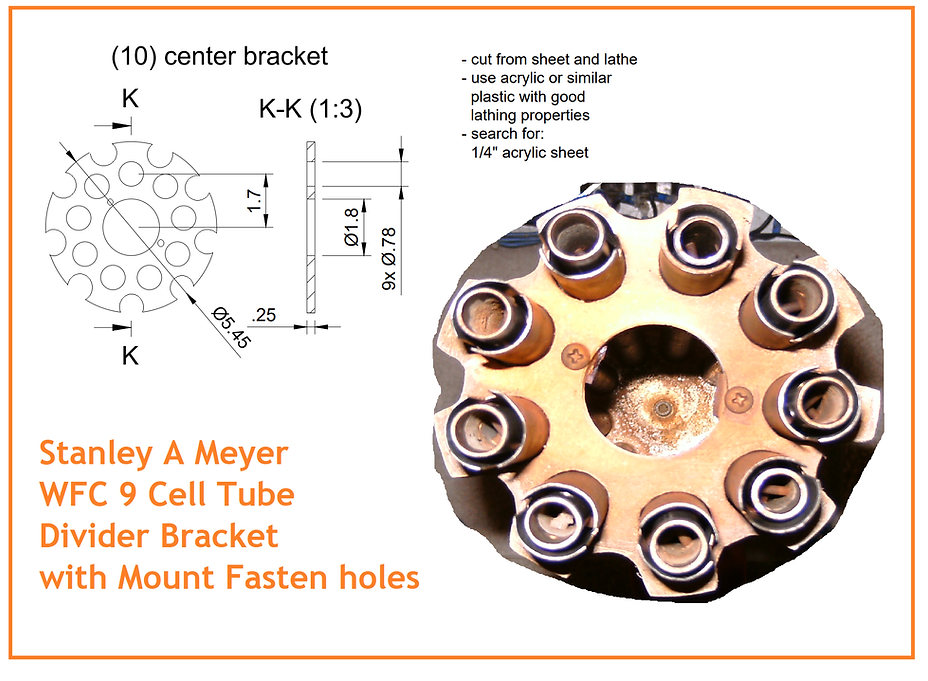 Stanley A Meyer WFC cell hho Spacer Brac