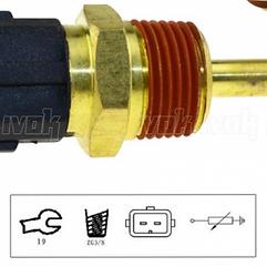 3/8 NPT 2 Pin Coolant Temperature Sensor