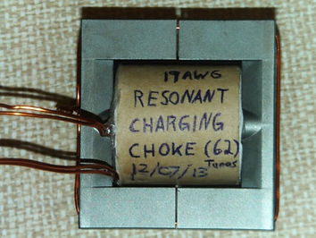 Stanley Meyer Resonant Charging Chokes 62 Turns