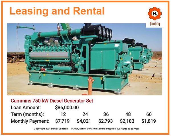 750 KVA kWH Rental Power PLant Genset Generator