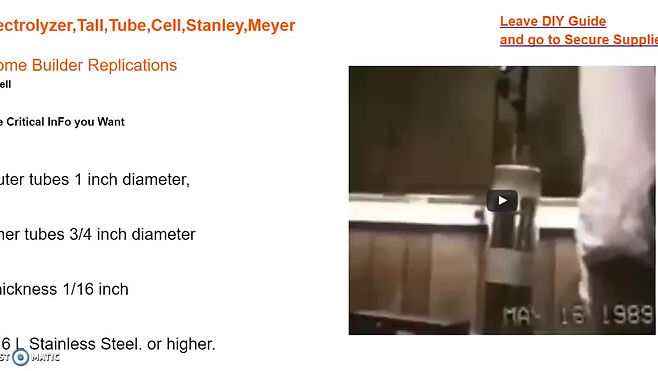 Stanley A Meyer HHo Cell Voltrolysis