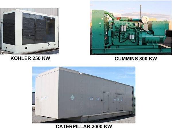 Shippign Generators Gensets