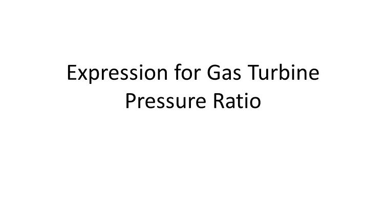 Gas Turbine Pressure Expansion