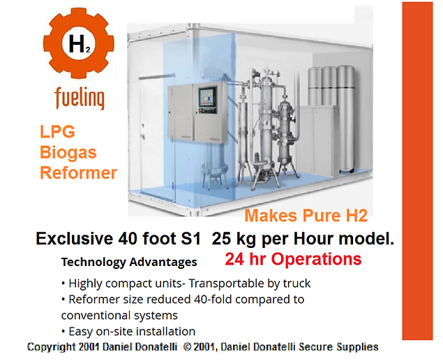 reformer,power,gas,lpg,methane,hydrogen,