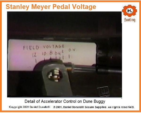 Stanley Meyer Accelerator Pedal Voltage