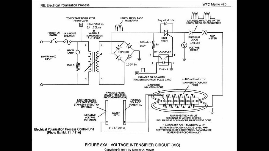 Stan Meyers 8xa Bifilar Circuit plan design