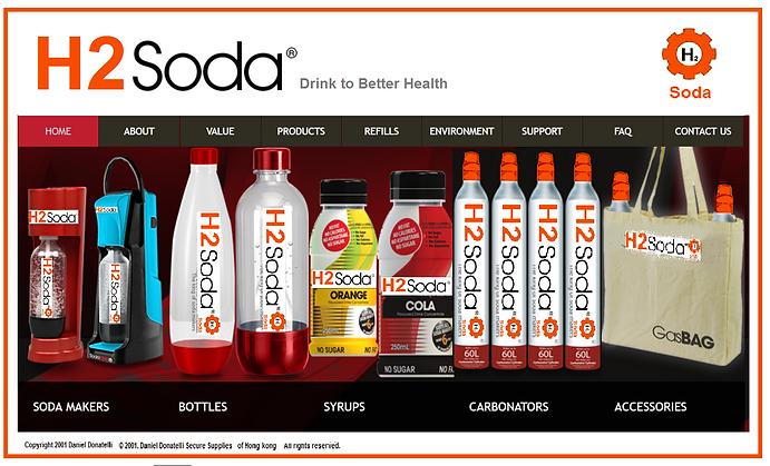 H2 Soda Productos de agua y cartuchos de gas Intercambia rellenos Soda Flavors Drinks Beer Home Brew and Fountains