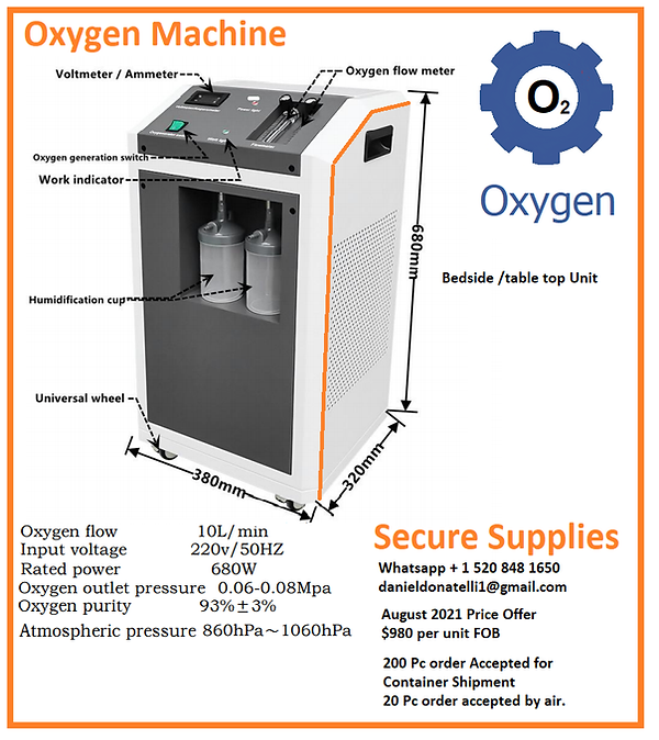 Bedside Oxygen table top