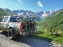 Tusheti mountain biking tour in the republic of Georgia. Mountain biking tour in Atsunta pass. Mountain biking tour from Tusheti to Khevsureti. MTB tour from Omalo to Shatili