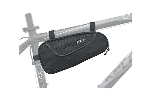 Frame Bag KLS RECTANGLE  შავი ფერის - ველოსიპედის ჩანთა ჩარჩოზე დასამაგრ