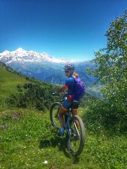 Mountain biking in Georgia Svaneti