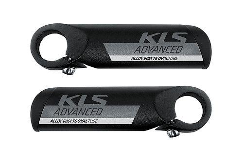 Bar ends KLS ADVANCED შავი ფერის - ველოსიპედის საჭის სახელურები