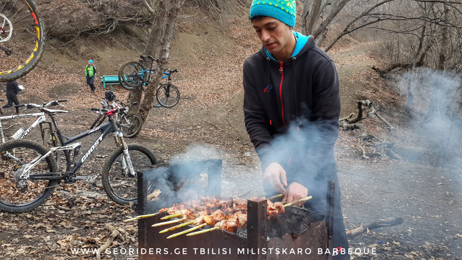 MTB community in Tbilisi - Georiders - Barbecue in Georgia Tbilisi