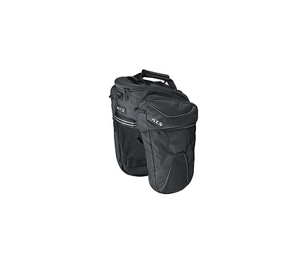 Rear Pannier Bag KLS SPACE 15  შავი ფერის - ველოსიპედის ჩანთა ჩარჩოზე და