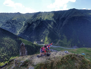 Trekking-hiking tours in the republic of Georgia Caucasus mountains