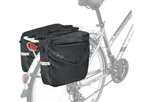 Rear Pannier Bag KLS ADVENTURE 20  შავი ფერის - ველოსიპედის ჩანთა ჩარჩოზე და