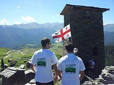Tusheti mountain biking tour in the republic of Georgia. MTB in Omalo
