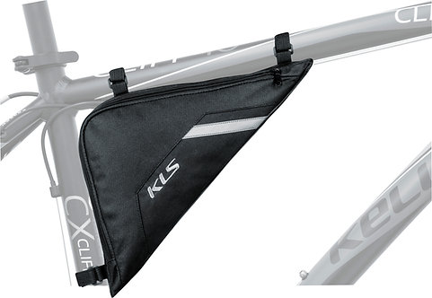 Frame Bag KLS TRIANGLE,  შავი ფერის - ველოსიპედის ჩანთა ჩარჩოზე დასამაგრებ