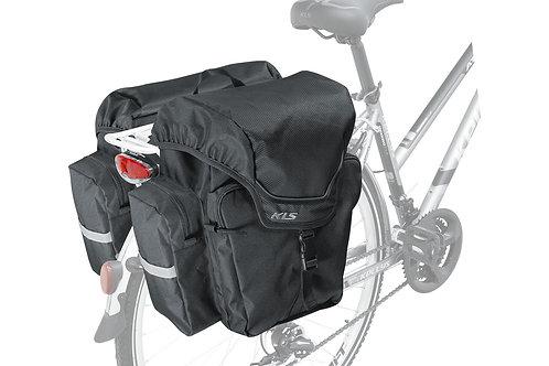 Rear Pannier KLS ADVENTURE 40  შავი ფერის - ველოსიპედის ჩანთა ჩარჩოზე დასამაგრ