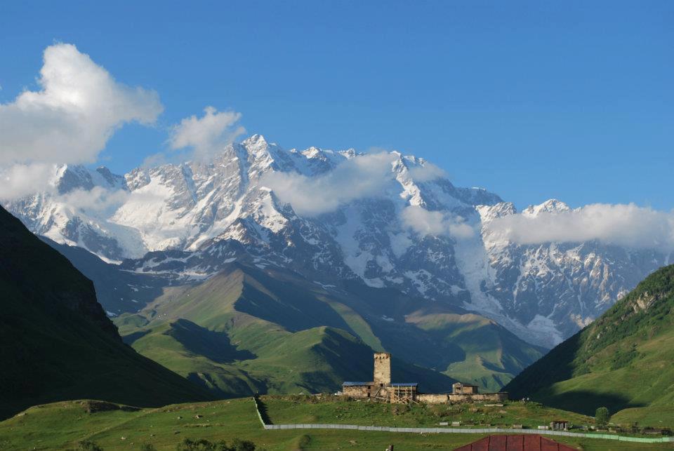 View of mountain Shkhara