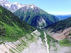 Svaneti Georgia Ushba glacier