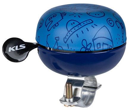 Bicycle bell KELLYSBell 60 Doodles Blue - ველო ზარი ლურჯი