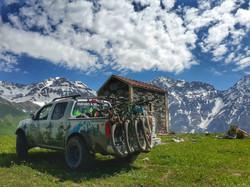 Georiders car in Svaneti