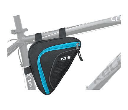 Frame Bag KLS WEDGE, ლურჯი ფერის - ველოსიპედის ჩანთა ჩარჩოზე დასამაგრებელი