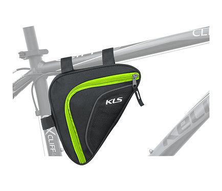 Frame Bag KLS WEDGE, მწვანე ფერის - ველოსიპედის ჩანთა ჩარჩოზე დასამაგრებე