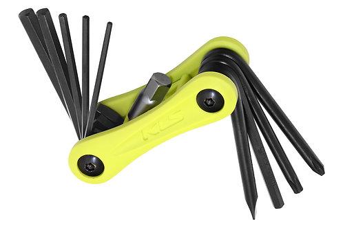 Folding Tool KLS STINGER 10 lime - ხელსაწყოების ნაკრები 10 ფუნქციით