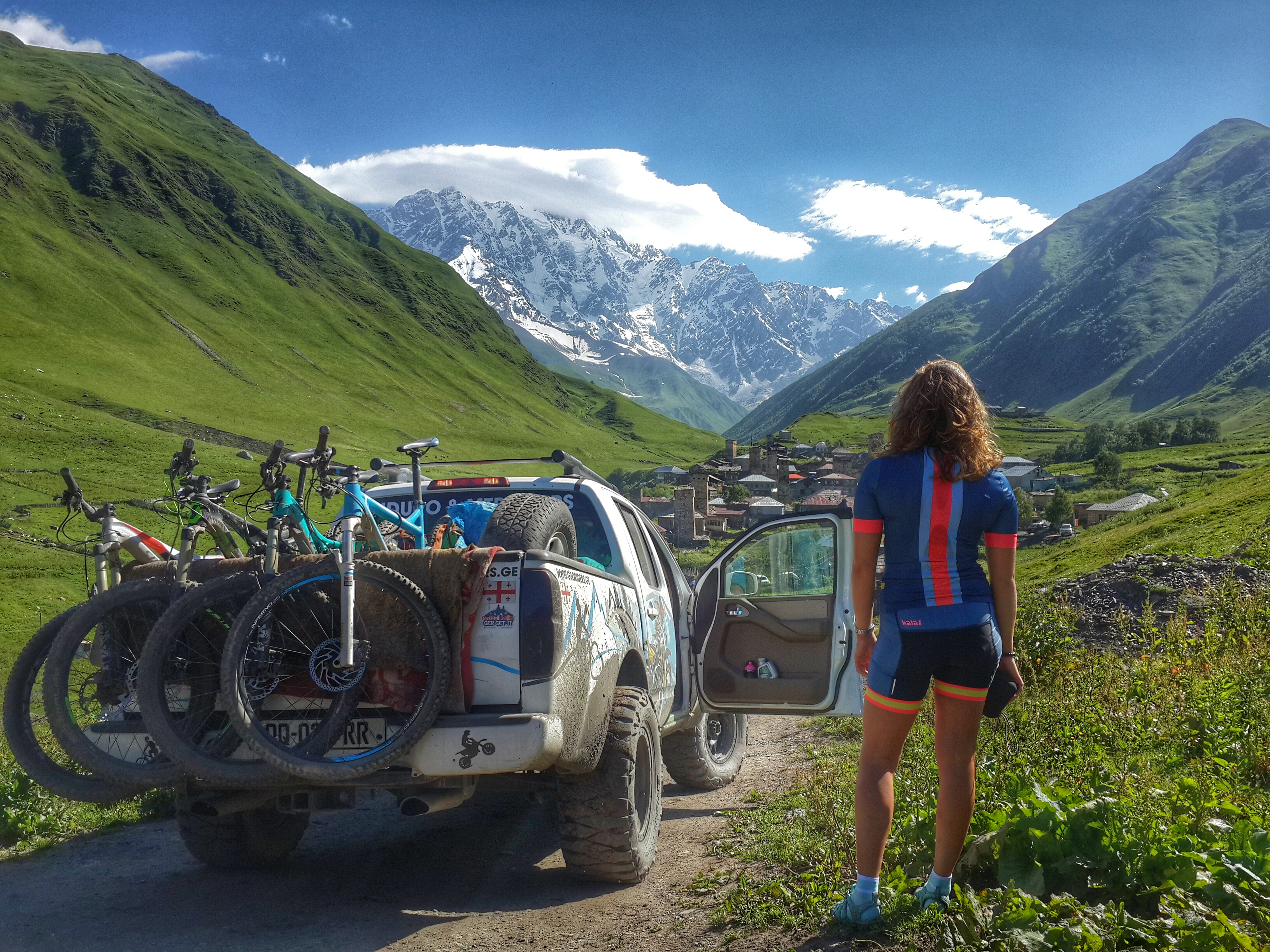 Mountain biking in Svaneti Georgia