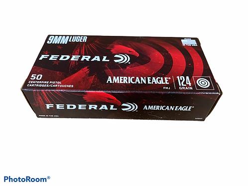 Federal AE 9mm Luger FMJ (124gr)