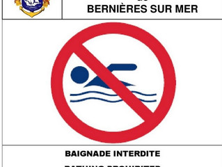 Interdiction Baignade pour le 10 août 2017