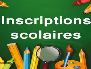 PRÉ INSCRIPTION RENTRÉE SCOLAIRE 2020-2021