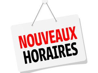 NOUVEAUX HORAIRES OUVERTURE MAIRIE